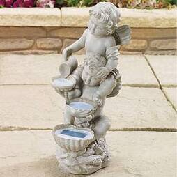 Solar Cherub With Cascading Lights