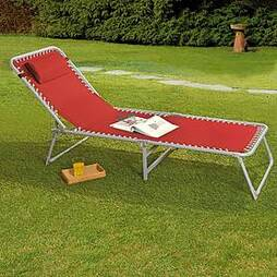 Garden Gear Zero Gravity Sun Lounger - Red