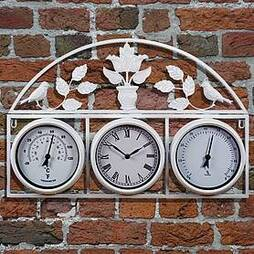 Garden Wall Clock - Cream