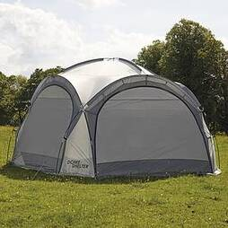 Garden Gear 3.9m Dome Event Shelter with Two Sunshade Walls