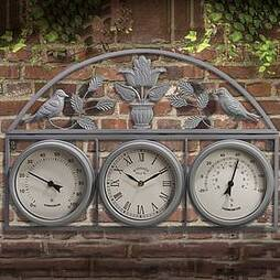 Garden Wall Clock - Grey