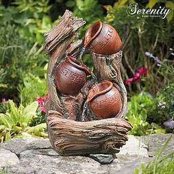 Serenity Tipping Pots Indoor and Outdoor Water Feature