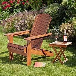 Garden Life Acacia Hardwood Folding Adirondack Chair