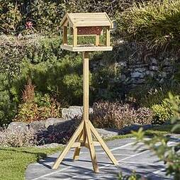 Nature?s Market Premium Bird Table with Built-in Feeder