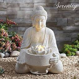 Serenity Serene Buddha Water Feature