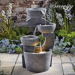Serenity Sculpted Four-Tier Bowl Water Feature