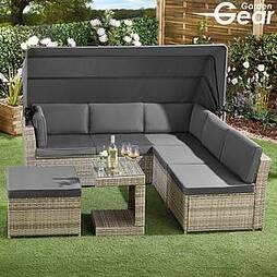 Garden Gear California Rattan Daybed with Canopy