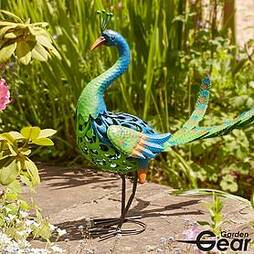 Garden Gear Metal Peacock Garden Ornament