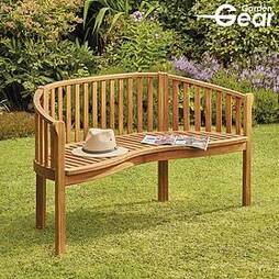 Garden Gear Acacia 3-Person Banana Bench