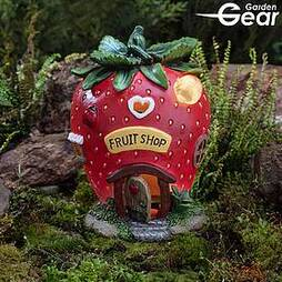 Garden Gear Solar LED Fruit Houses - Strawberry