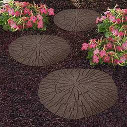 Reversible Eco-Friendly Cracked Log Stepping Stones - Single Unit