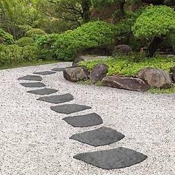 Reversible Eco-Friendly Grey Natural B Stepping Stones - Single Unit