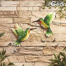 Garden Gear Set of 2 Metal Hummingbirds Wall Art