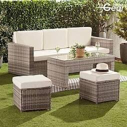 Garden Gear Riviera 5-Seat Rattan Set