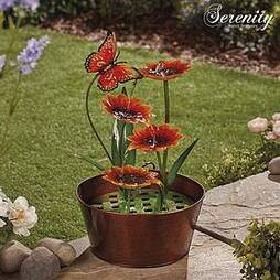 Serenity Metal Indoor and Outdoor Sunflowers Water Feature