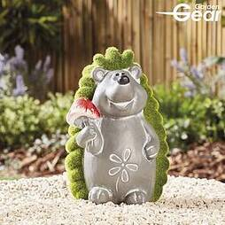 Garden Gear Flocked Effect Hedgehog Garden Ornament