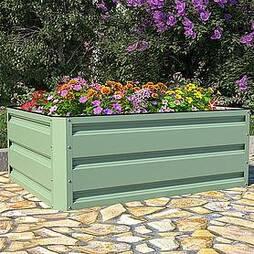 Metal Raised Garden Bed - Light Green