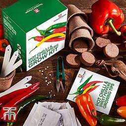 Red Hot Chilli & Sweet Peppers Growing Kit - Gift