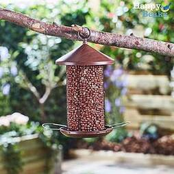 Happy Beaks Wooden-Effect Lantern Nut Feeder