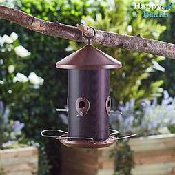 Happy Beaks Wooden-Effect Lantern Seed Feeder