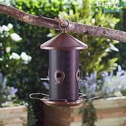 Happy Beaks Wooden-Effect Lantern Seed Feeder