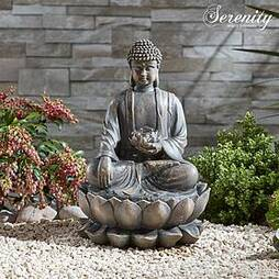 Serenity Sitting Buddha Water Feature