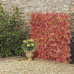 Artificial Red Acer Hedge Trellis 1X2M