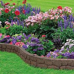 Eco-friendly Flexi Curve Rockwall Border Edging