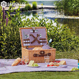 Garden Life Two Person Picnic Hamper  Natural