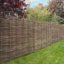 Hazel Hurdle Decorative Woven Garden Fencing Panel 6ft x 4ft 6in  (1.8m x 1.35m) Natural Woven Wattle Fencing
