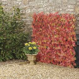 Artificial Red Acer Hedge Trellis 0.7x2M