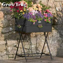 1 x Black Grow Trug® Tuscan Planter + '20 of veg seed