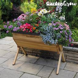 Garden Grow Large Wooden Raised Planter Frame and Cover