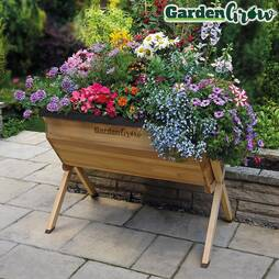 Garden Grow Medium Wooden Raised Planter Cover and Frame