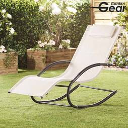Garden Gear Premium Zero Gravity Rocking Lounger  Cream