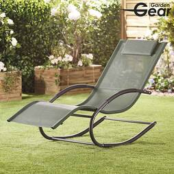 Garden Gear Premium Zero Gravity Rocking Lounger  Green