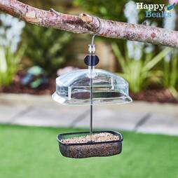Hanging Adjustable Small Bird Feeder with Baffle