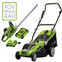 Aerotek Series X2 40V Cordless Lawnmower and Hedge Trimmer