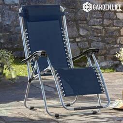 Zero Gravity Chair  Navy Twin Pack